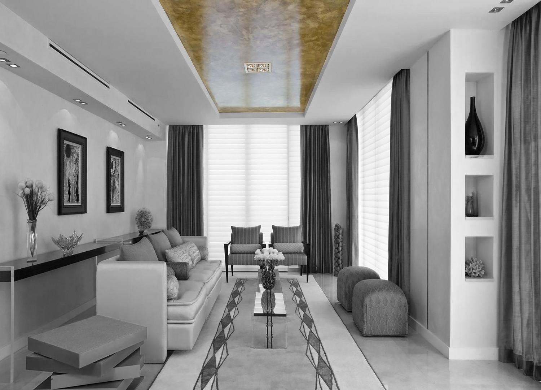 Золотистые натяжные потолки