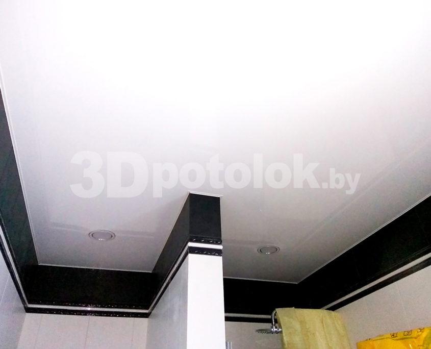 Белый натяжной потолок