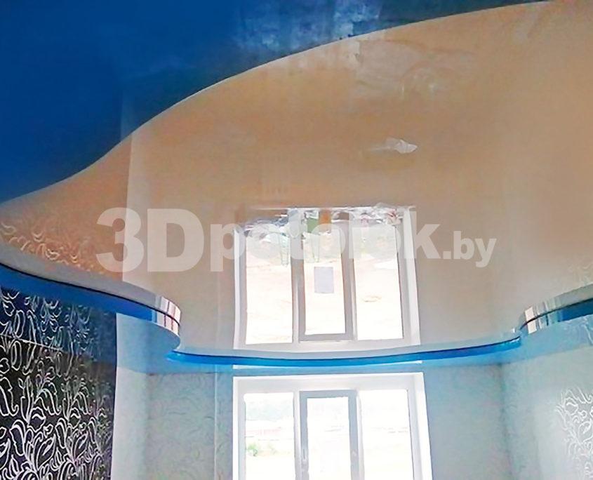 Бирюзовый натяжной потолок